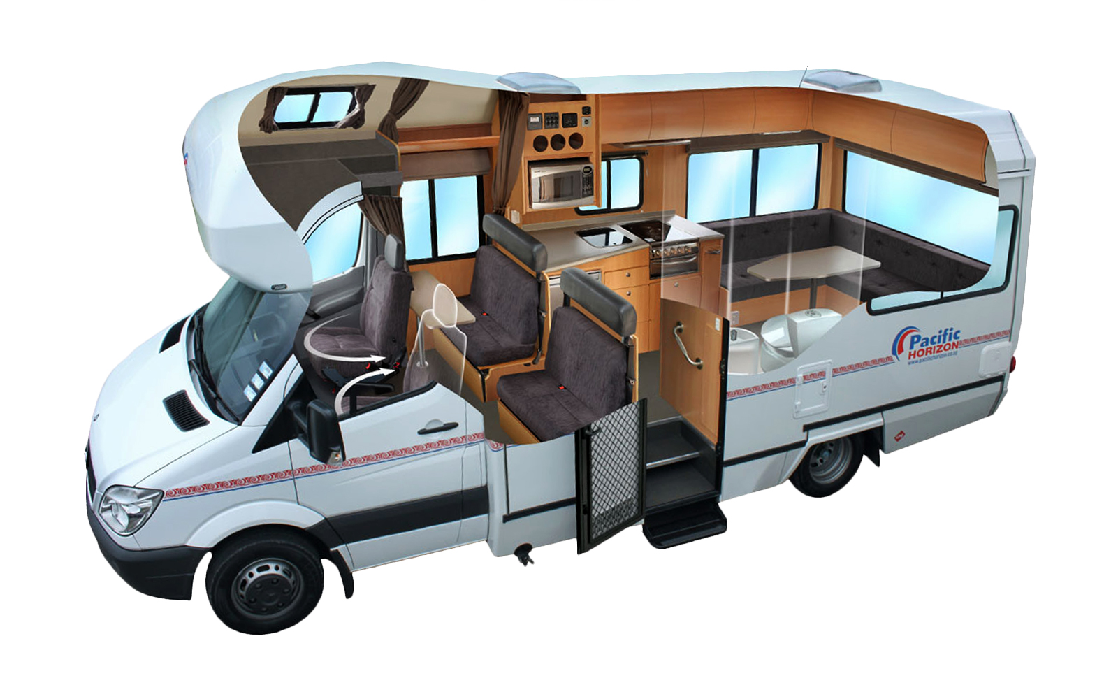 motorhomes mit alkoven neuseeland bestcamper. Black Bedroom Furniture Sets. Home Design Ideas